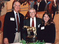 Jerry Windham, Ed & Kristy McKechnie F Celebrating 50 years of Breeding American Quarter Horses  at the  Heritage Center & Museum, October 17, 2000 F Amarillo, Texas